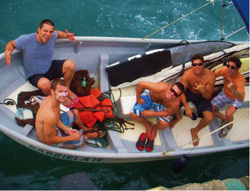 Summit team on boat in Nicaragua